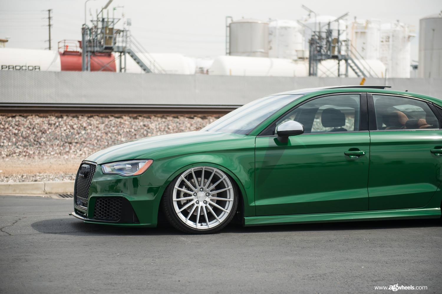 Audi A3 Sedan Custom >> Green Audi A3 Has RS3 Bumper, Cool Stance and Trunk Spoiler - autoevolution