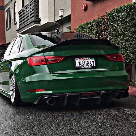 Green Audi A3 Has Rs3 Bumper Cool Stance And Trunk