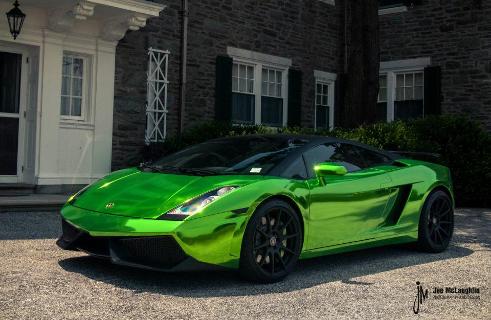 Green Chrome Lamborghini Gallardo Autoevolution
