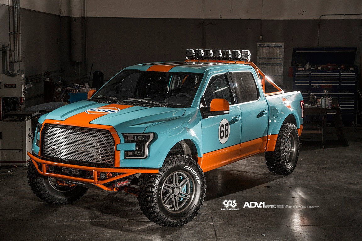 Lifted 2015 F150 >> Gulf 2016 Ford F-150 Has Gulf Livery and ADV.1 Wheels - autoevolution