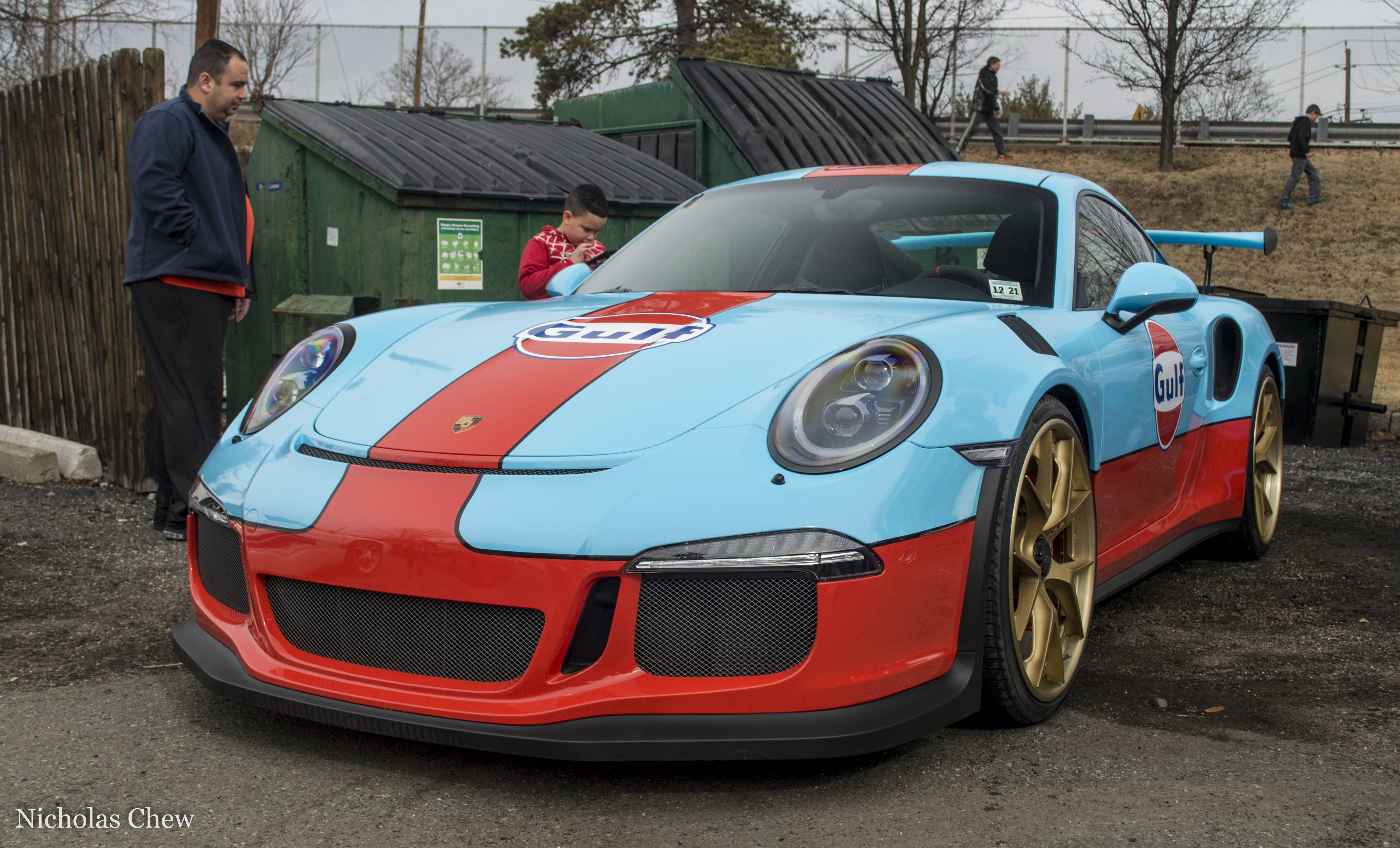 Gulf Livery Porsche 911 Gt3 Rs Pdk Is Part Wrap Part Lava Orange Factory Color Autoevolution