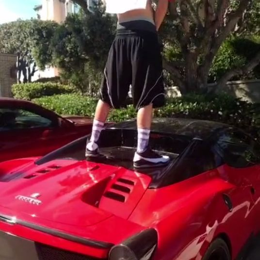 Guy Urinating On Ferrari 458 Spider Roof Sparks Online
