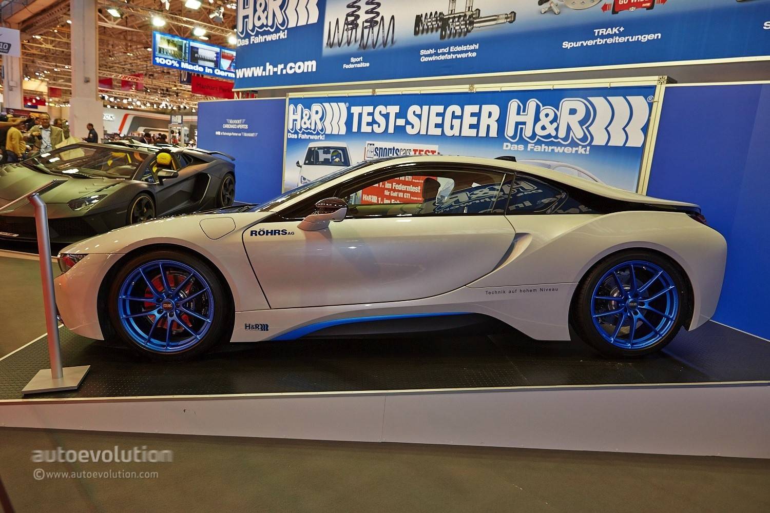 H R Bmw I8 Has A Lowered Stance At The Essen Motor Show 2014 Live