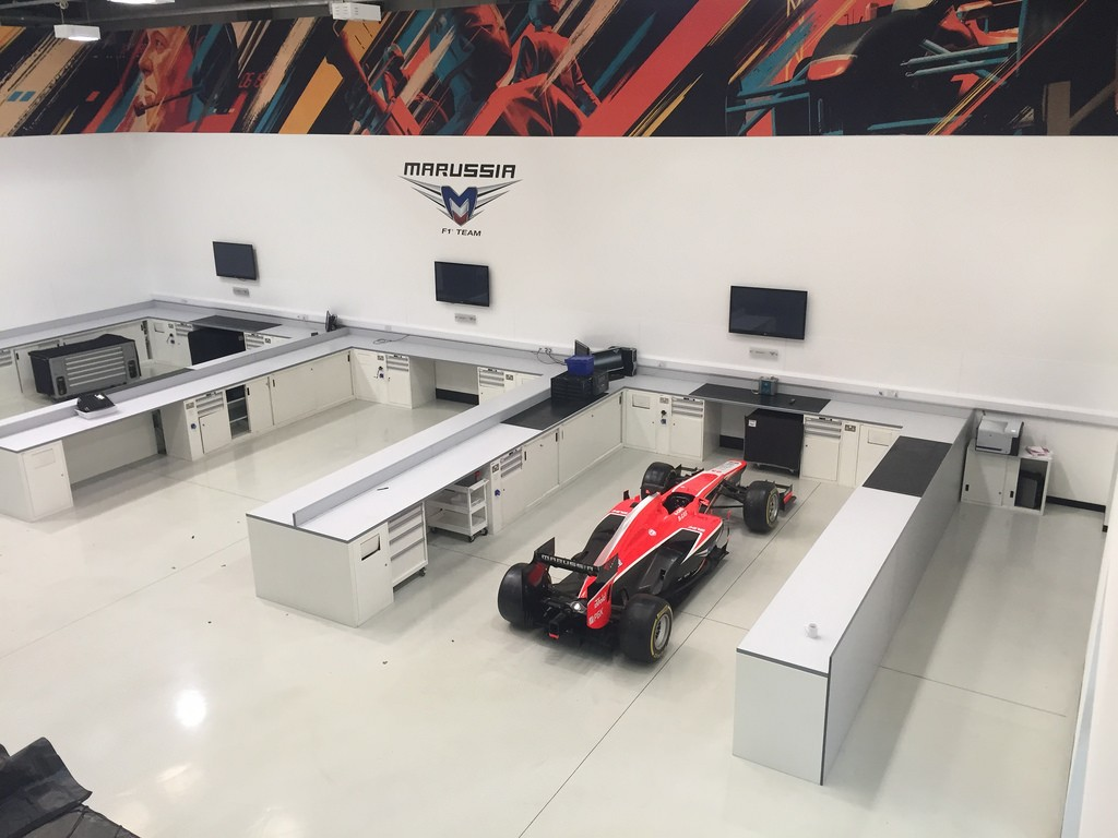 Haas f1 acquires marussia f1 team hq 2015 formula 1 for Oficinas race