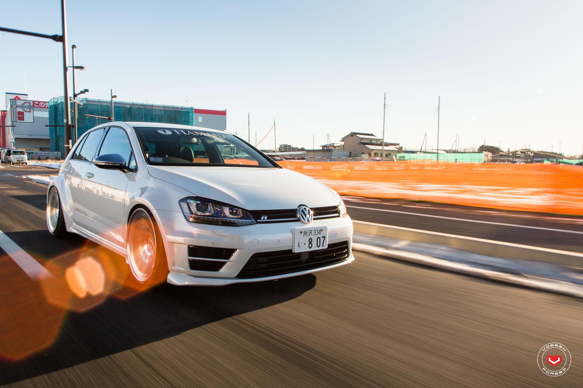 Widebody Golf R Gets Lip Concept Vossen Wheels in Japan - autoevolution