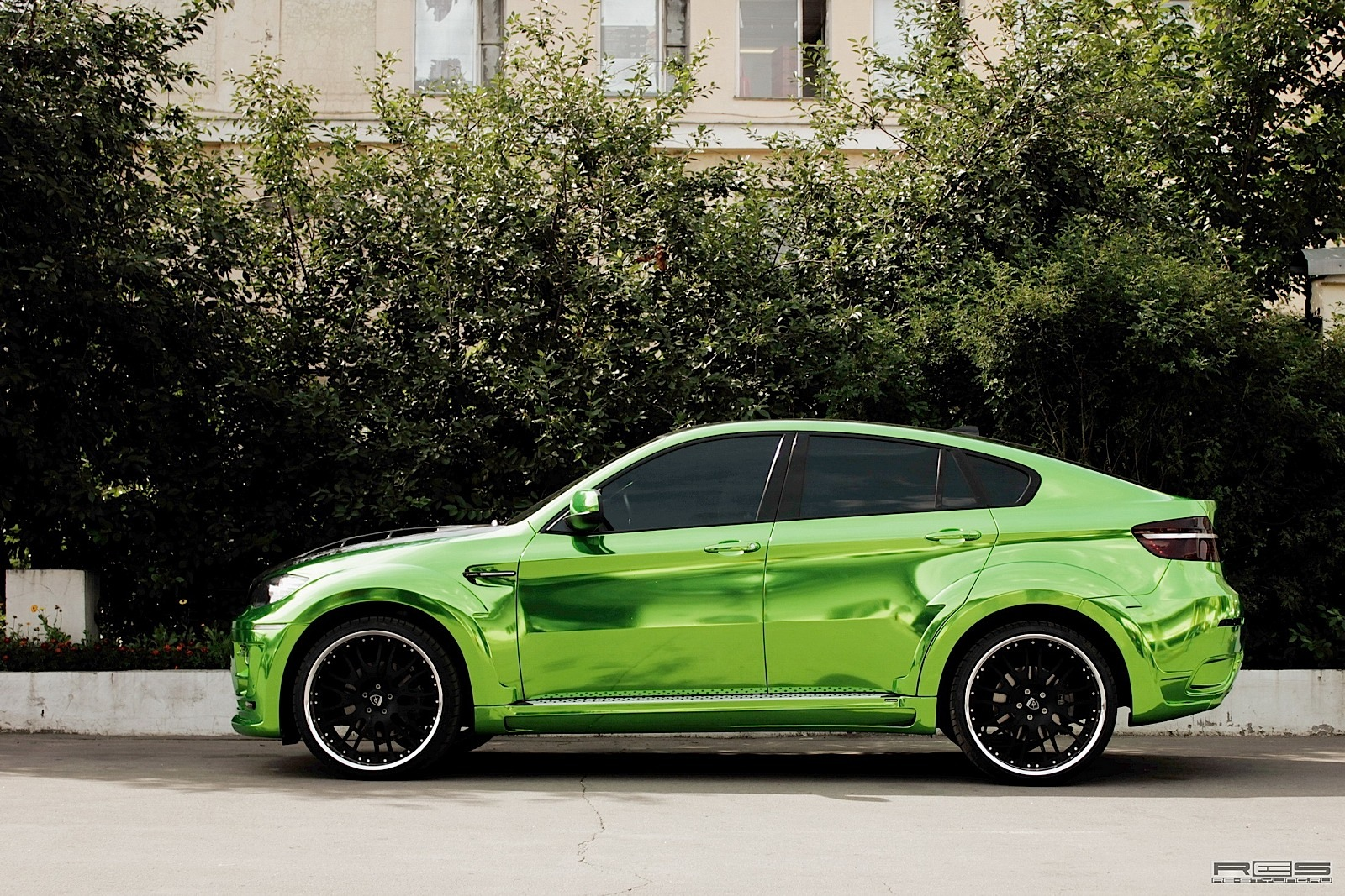 Hamann Bmw X6 Wrapped In Green Chrome Autoevolution