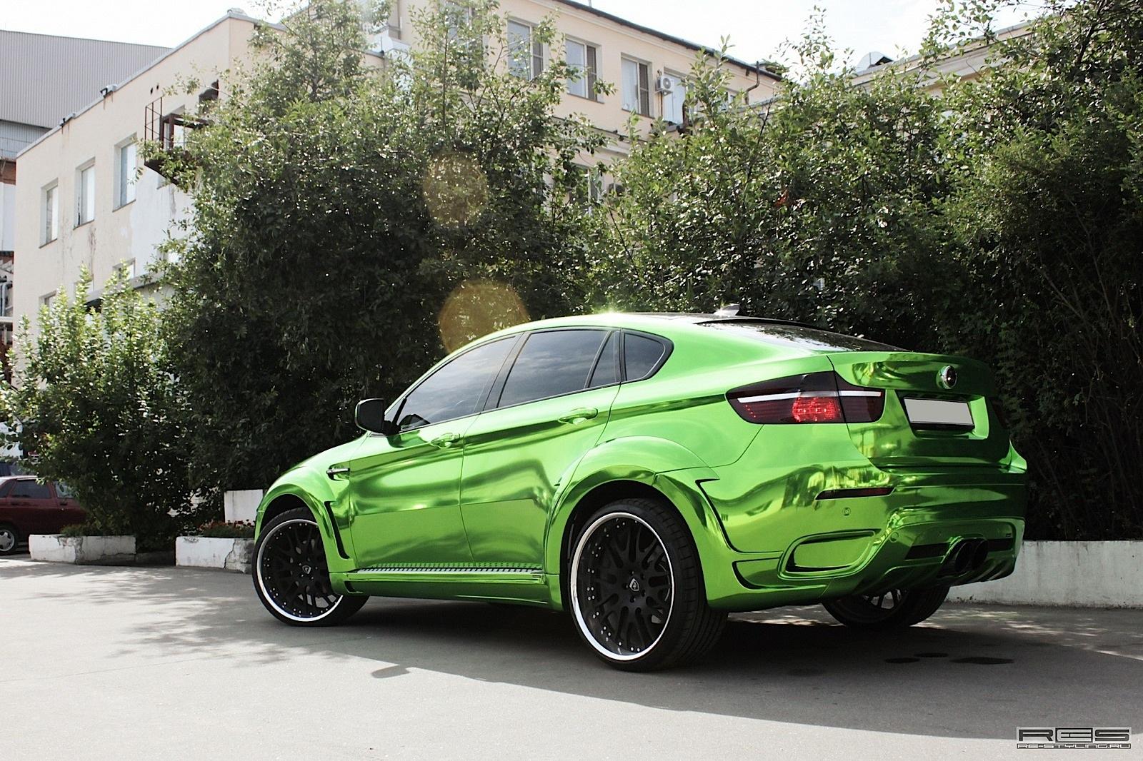 Hamann Bmw X6 Wrapped In Green Chrome Autoevolution