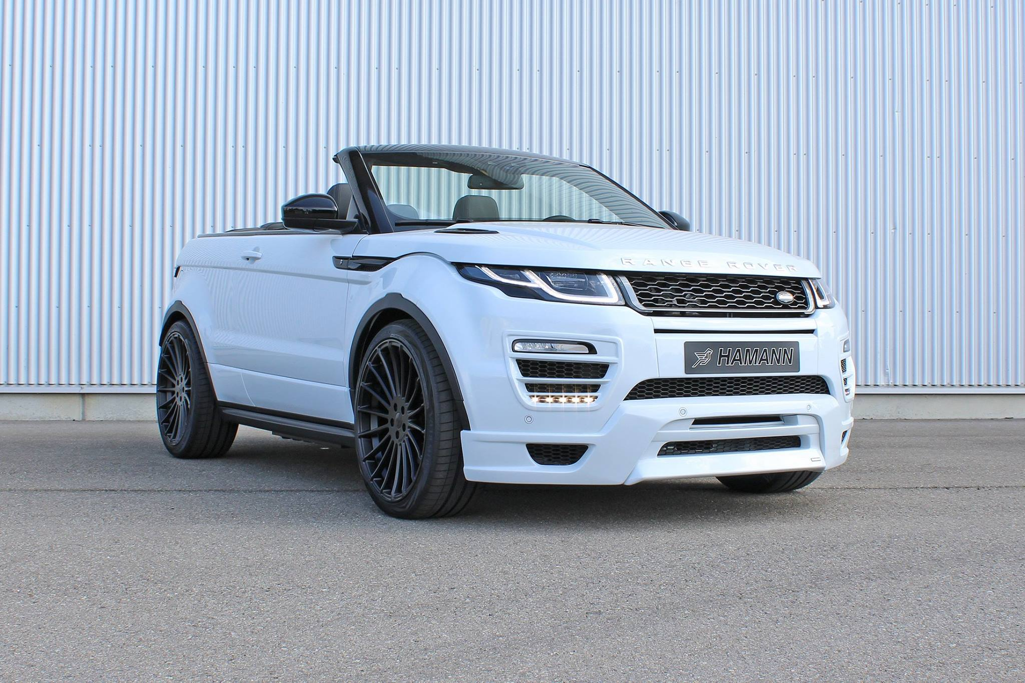 hamann range rover evoque cabrio makes video debut. Black Bedroom Furniture Sets. Home Design Ideas