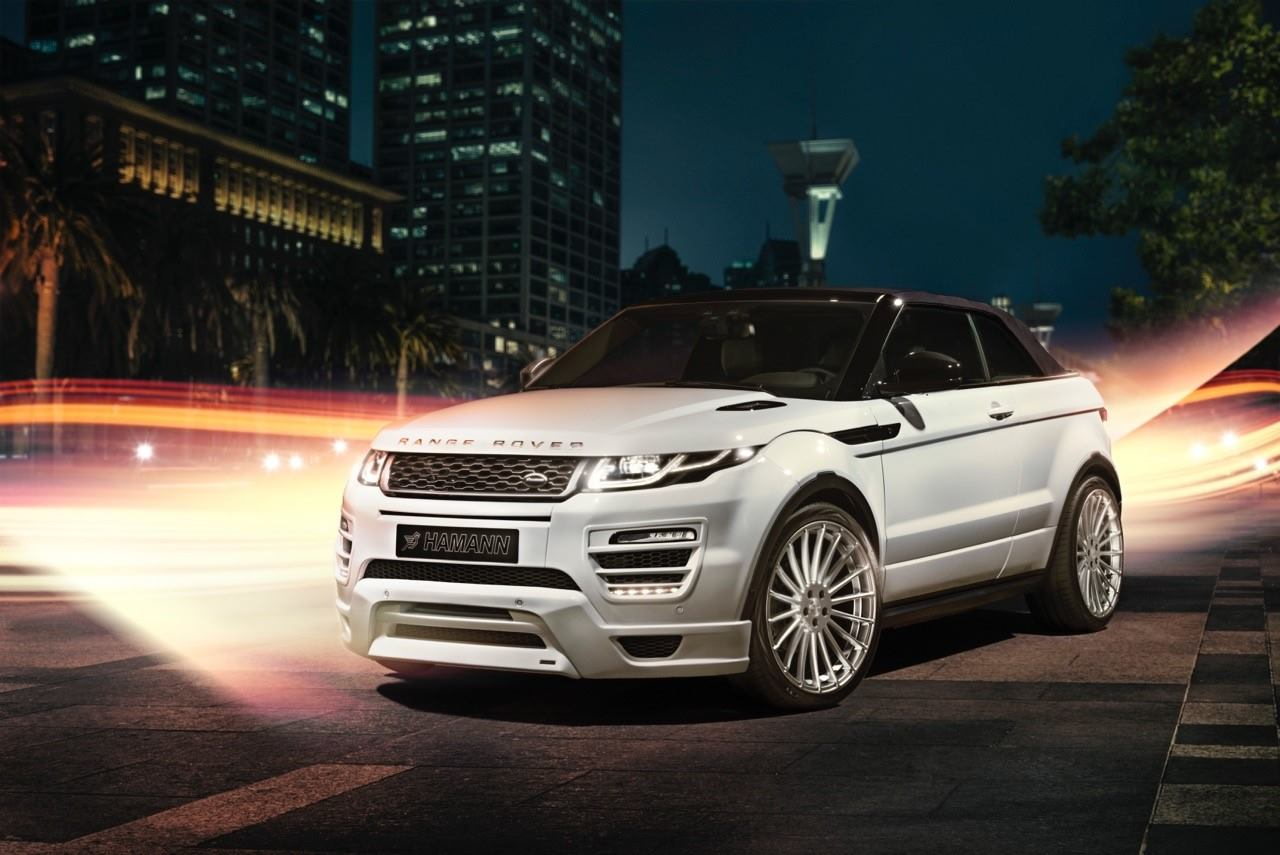 hamann range rover evoque cabrio makes video debut autoevolution. Black Bedroom Furniture Sets. Home Design Ideas