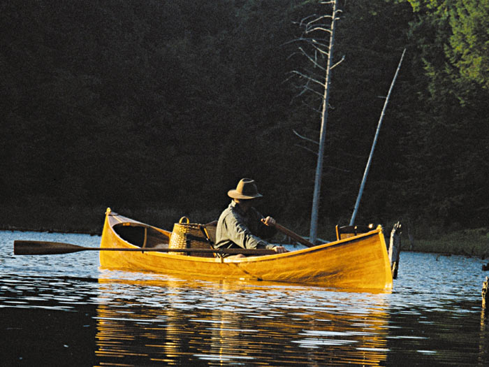 Handcrafted Cedar Strip Adirondack Guideboat Brings
