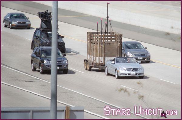 Mercedes Of Seattle >> Hangover 3 Leaked Footage: Mercedes E250 Cabrio, Giraffe Trailer, Crash - autoevolution