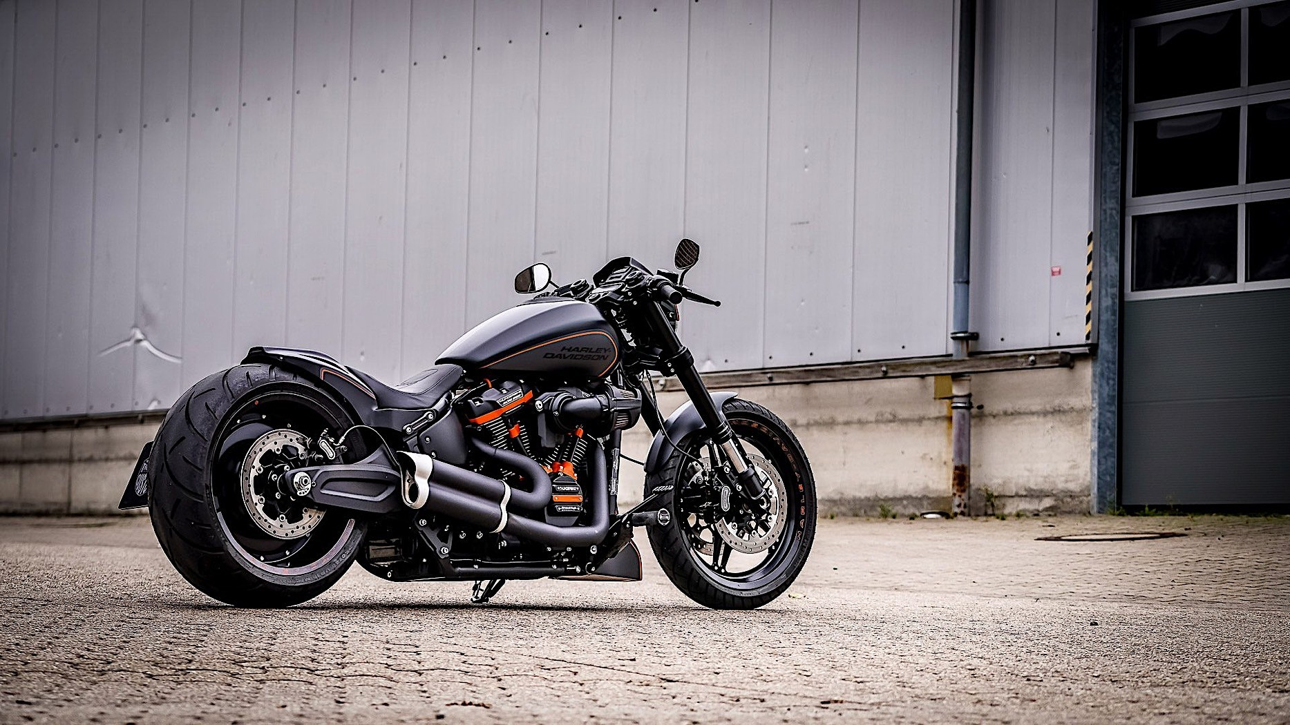 Harley Davidson Black Rebel Is a Full Custom Thunderbike ...