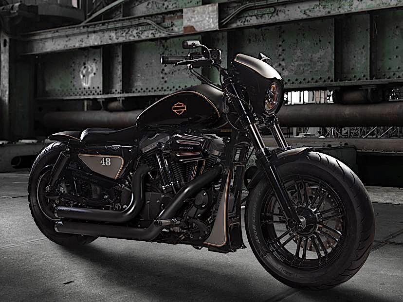 Harley-Davidson Sports Rod Is Forty-Eight Gone Bad