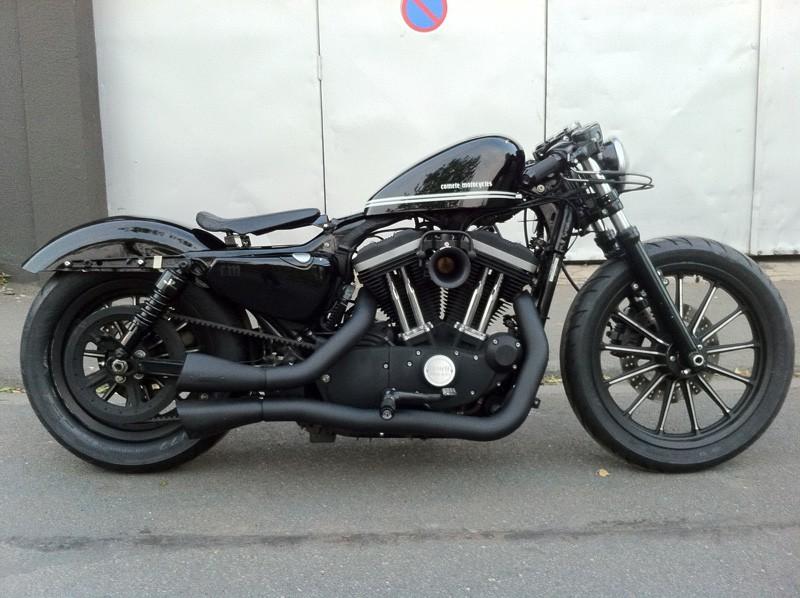 Harleydavidson Sportster Café Noir: Aftermarket Exhaust For Harley Davidson Sportster At Woreks.co