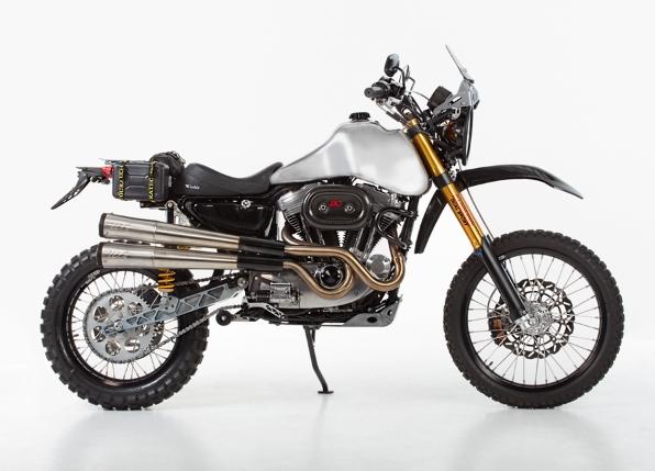 Harley Davidson Sportster Dual Sport Conversion Photo Gallery on Duel Sport Kit