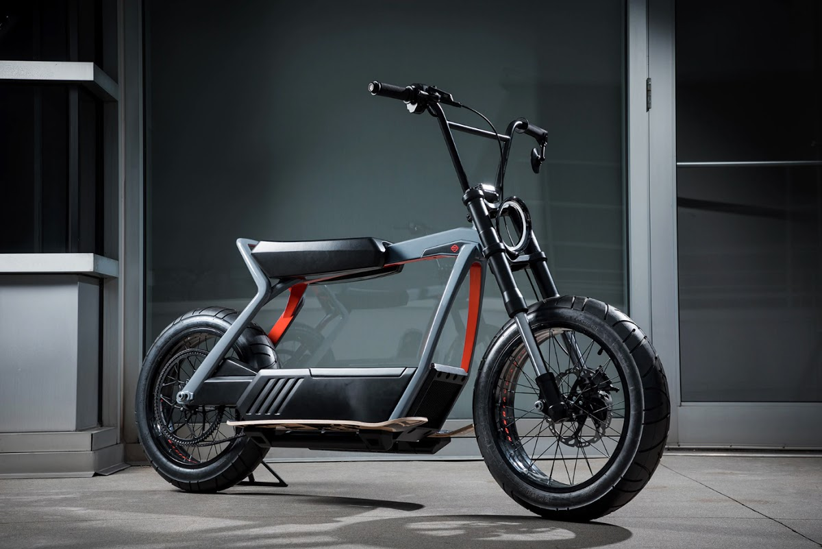harley davidson tests electric concept bikes at aspen x. Black Bedroom Furniture Sets. Home Design Ideas