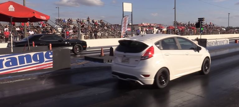 Ford Fiesta St Sleeper Drag Races Hellcat