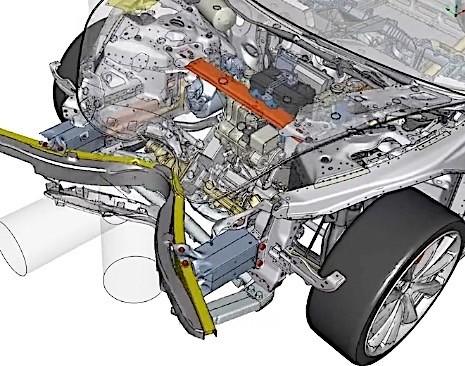 ... Tesla Model 3 structure ...