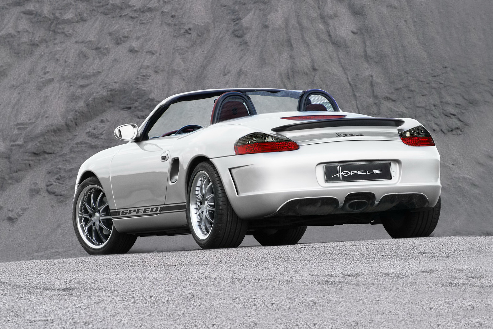 hofele design targets the first generation porsche boxster. Black Bedroom Furniture Sets. Home Design Ideas
