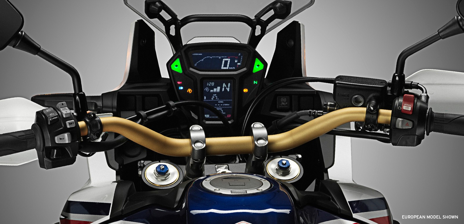 2016 Honda CRF1000L Africa Twin Vertical Arranged Dashboard