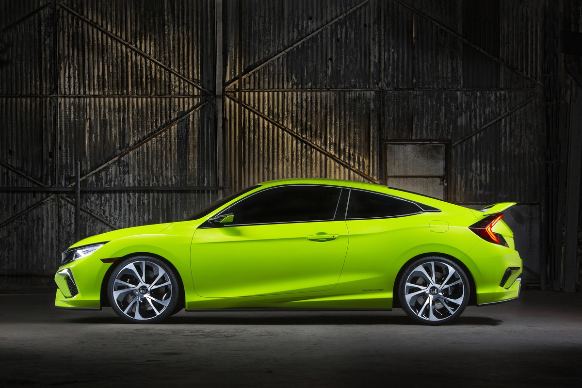 honda civic concept is new york 39 s colored spot previews the new 2016 civic autoevolution. Black Bedroom Furniture Sets. Home Design Ideas
