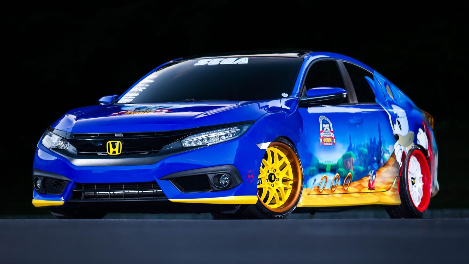 2015 Honda Civic Si Turbo >> Sonic the Hedgehog Gets Unique Honda Civic as 25th ...