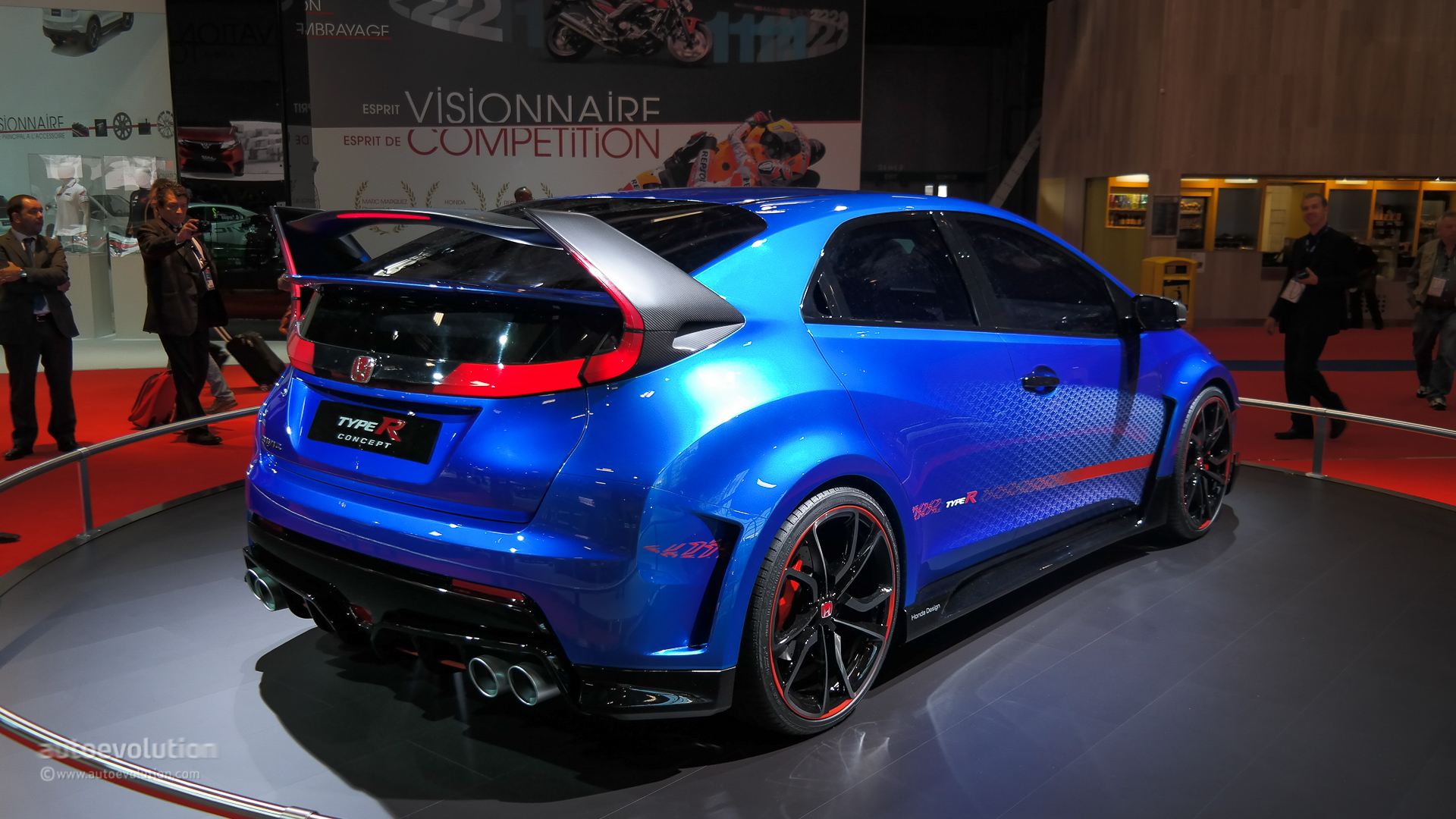 Honda civic type r concept ii looks awesome in paris live photos autoevolution