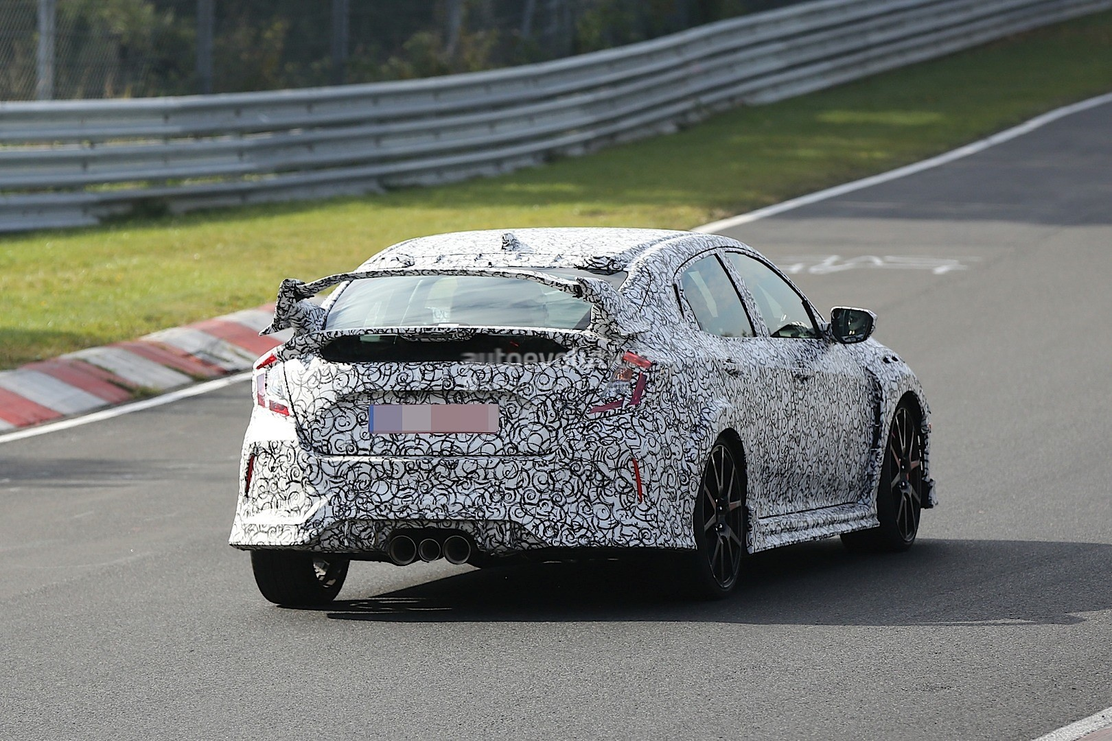 honda civic type r moves to nurburgring prototype testing. Black Bedroom Furniture Sets. Home Design Ideas