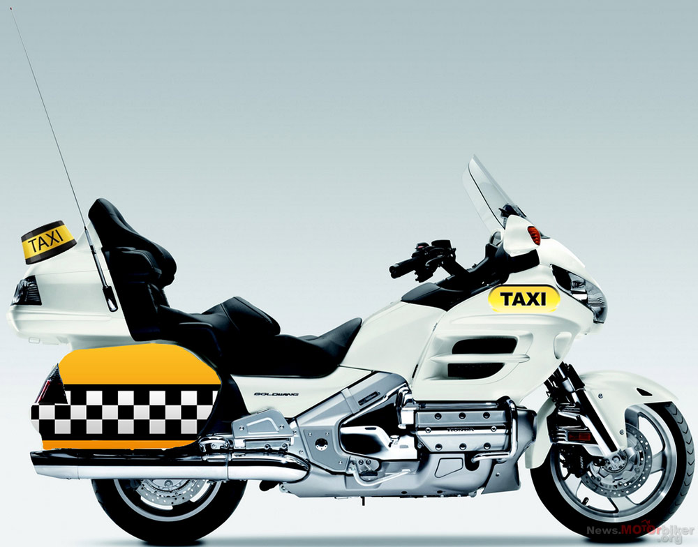 honda france says the gold wing is not a taxi bike autoevolution. Black Bedroom Furniture Sets. Home Design Ideas