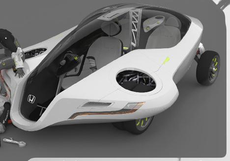 Honda Fuz O Futuristic Flying Car Concept Autoevolution