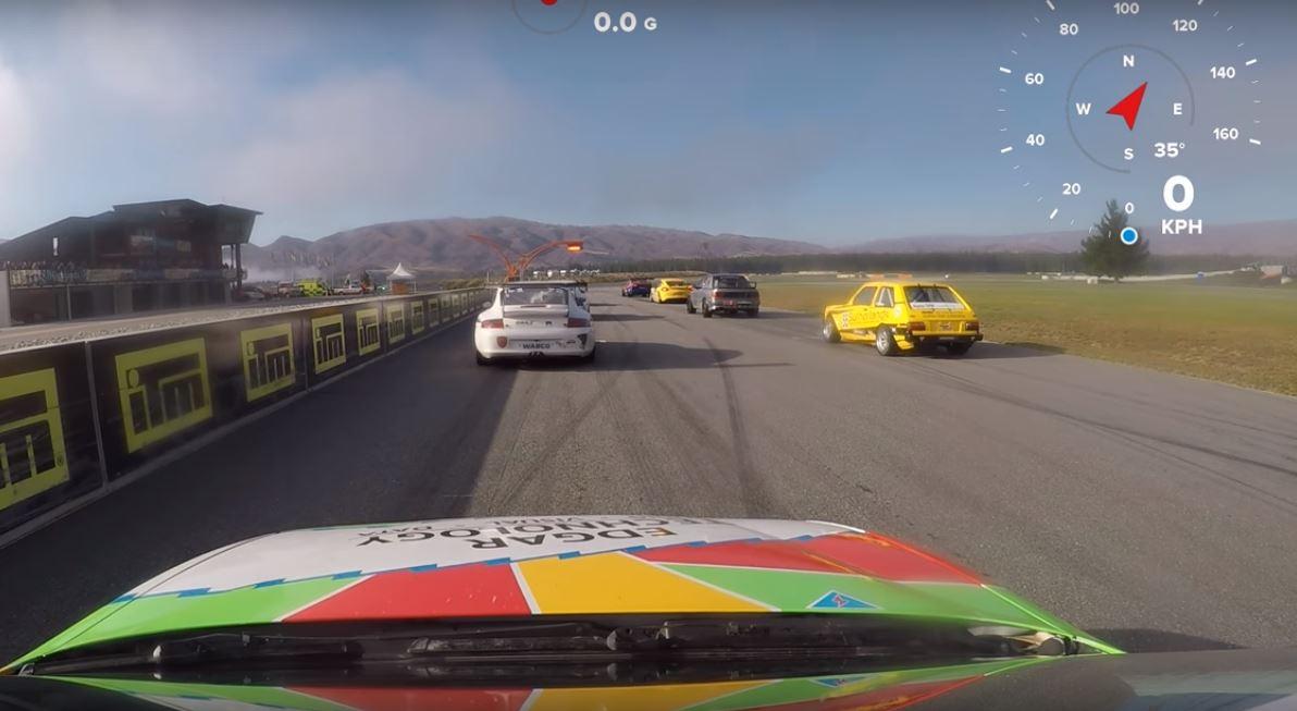 Honda Racer Tackles Corvette the Hard Way in Kiwi David vs