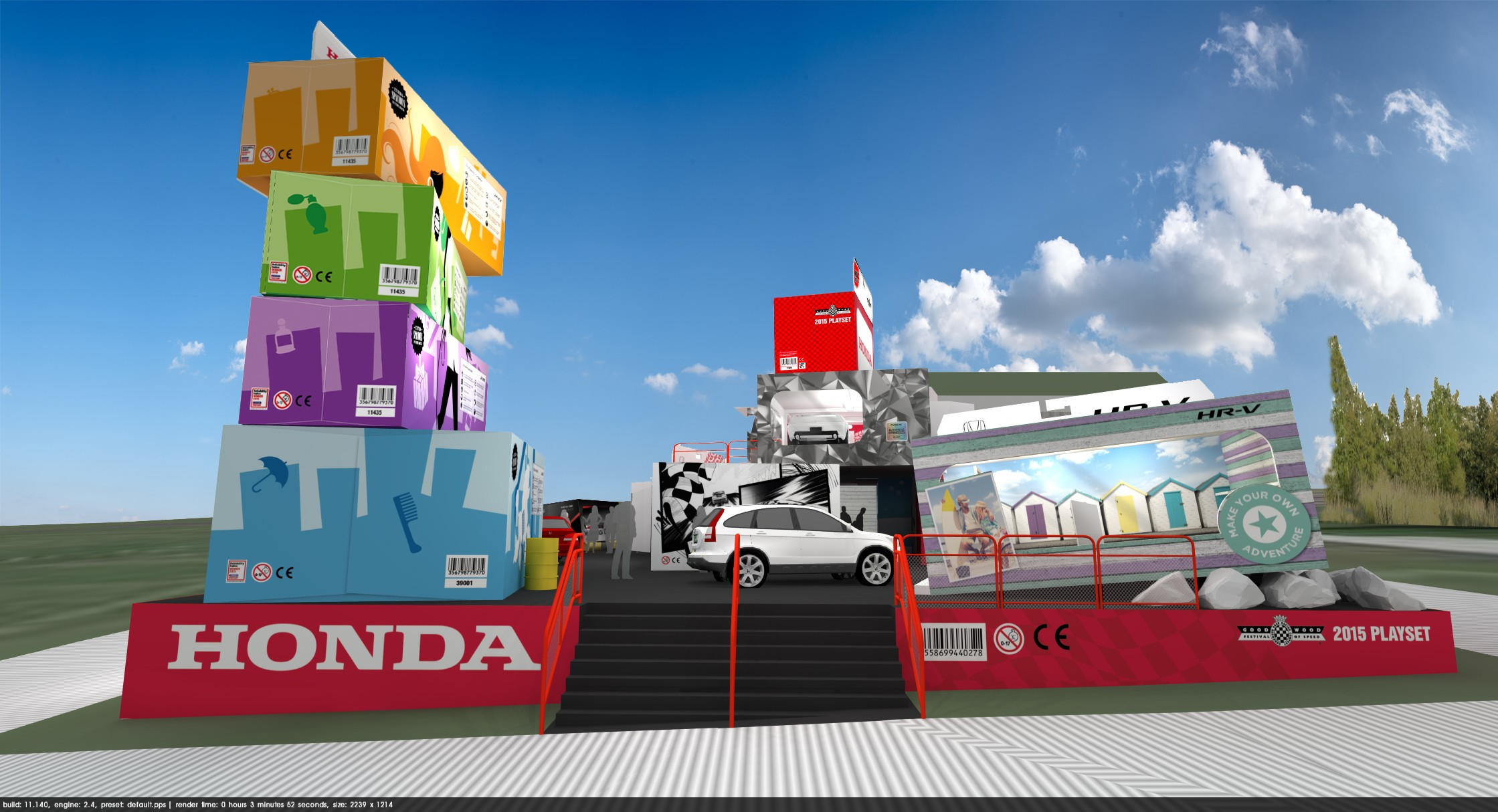 Trade Stands Goodwood Festival Speed : Honda s stand at goodwood looks a lot like the toy story