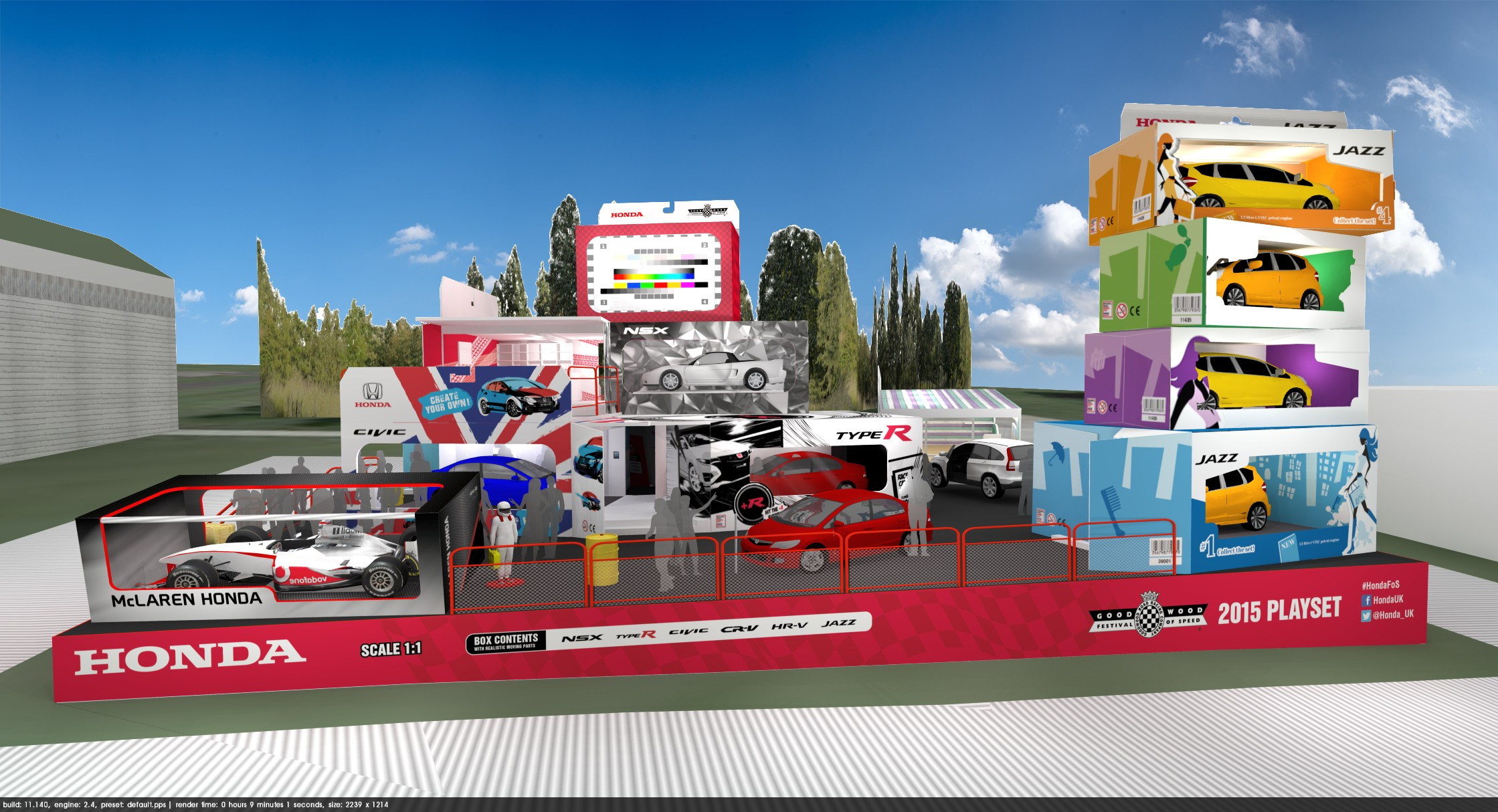 Honda's Stand at Goodwood Looks a Lot Like the Toy Story Animation Movie Set - autoevolution