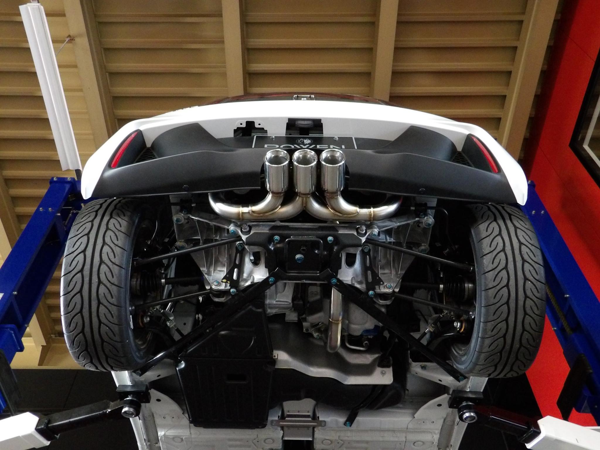 Honda S660 Copies Civic Type R Triple Exhaust In Rowen