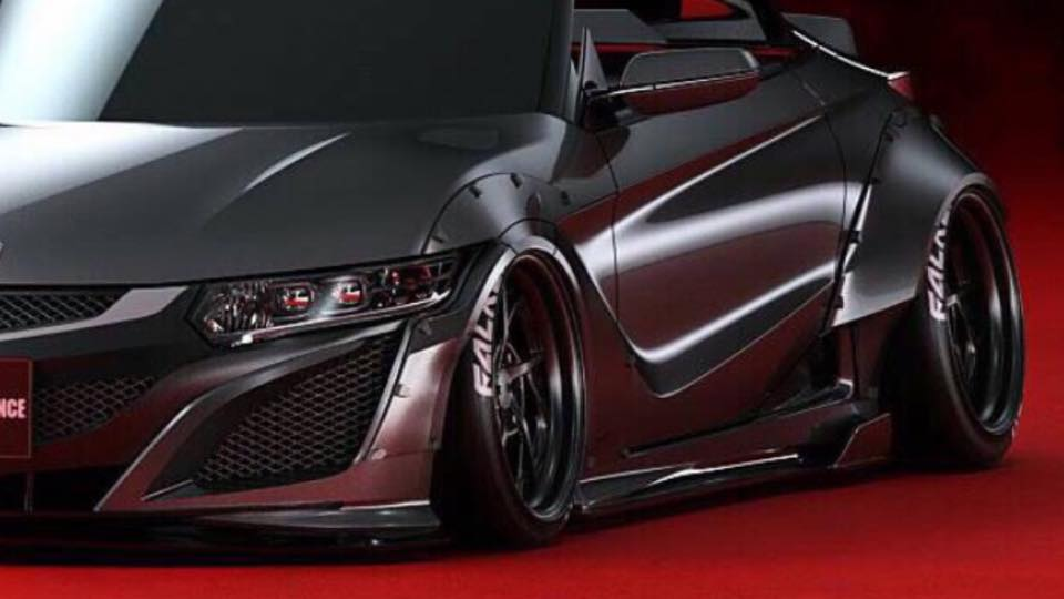 Honda With Liberty Walk Body Kit Is A Toy Supercar From Japan