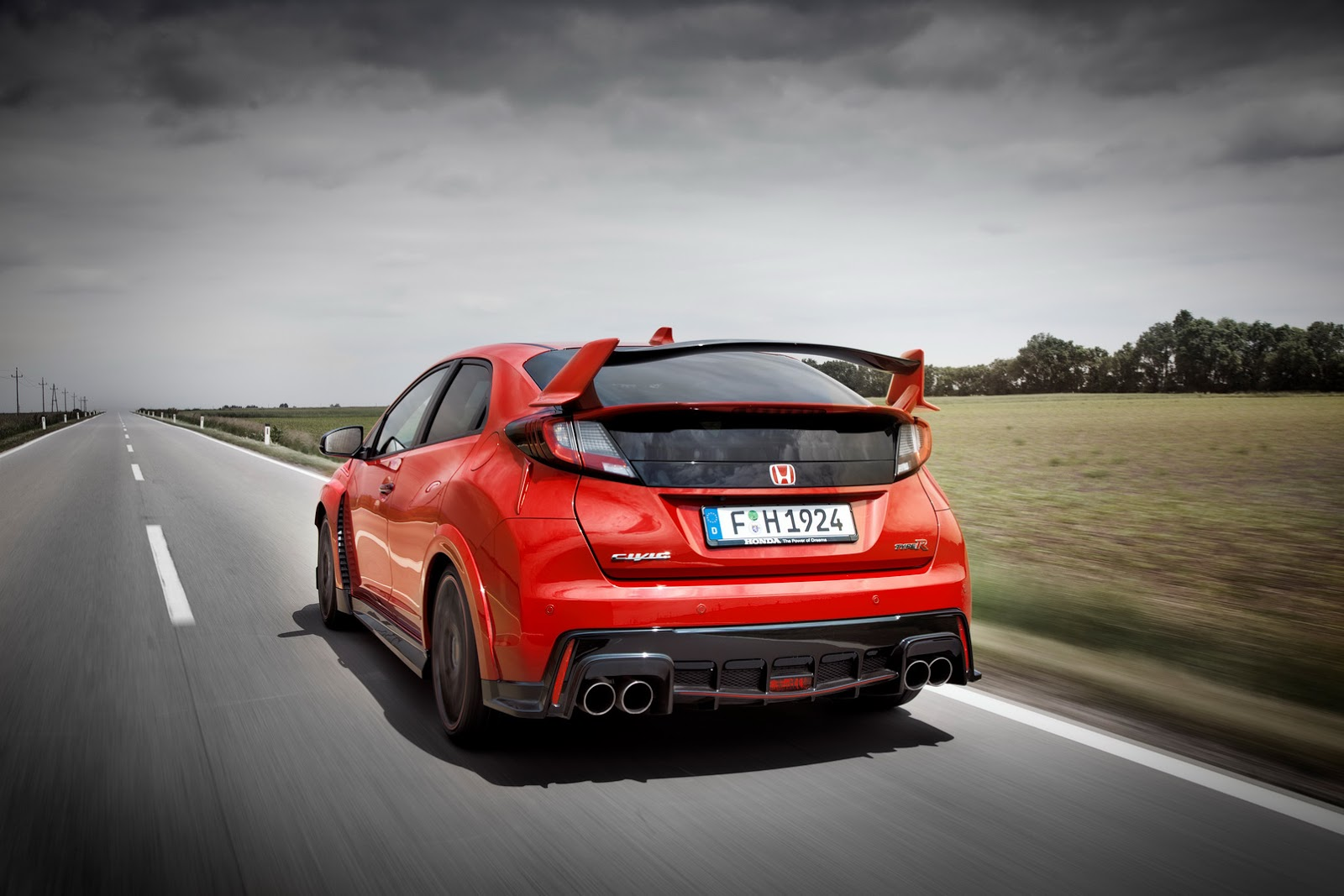 2015 honda civic type r looks devilish in first teaser photo autoevolution. Black Bedroom Furniture Sets. Home Design Ideas