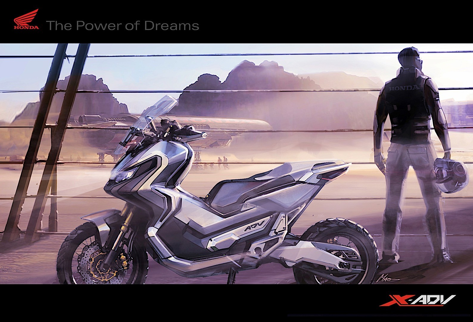 marquez takes the new honda x adv to a spin in the snow. Black Bedroom Furniture Sets. Home Design Ideas