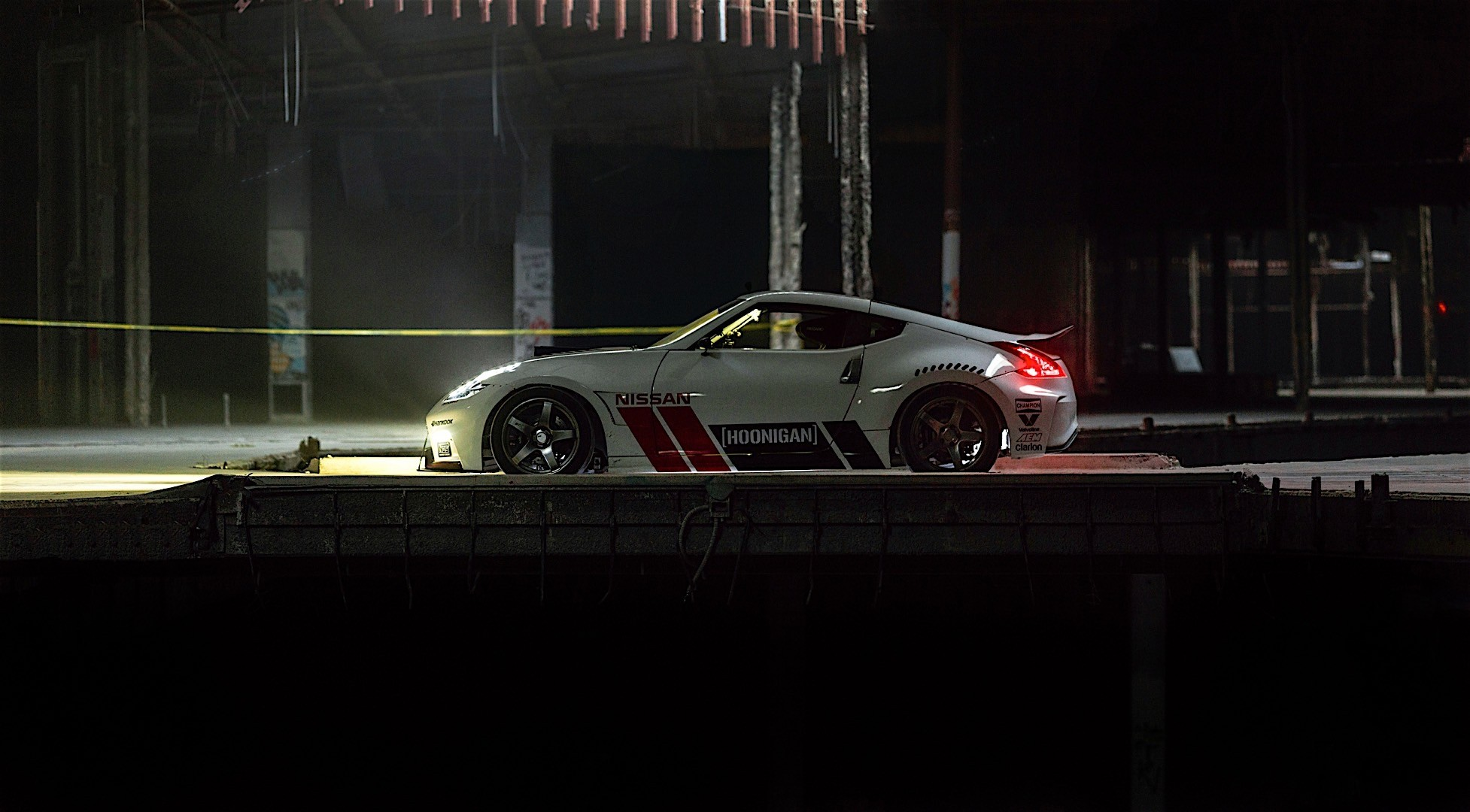 Hoonigan Escort >> Nissan and Hoonigan's Black Friday Has Two 1,000 HP Cars and an Abandoned Mall - 360 Video ...