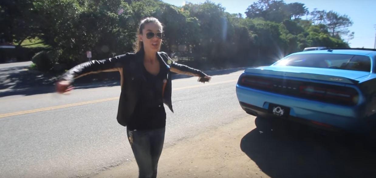 Hot Erica Mopar Girl Drives Her 4th Challenger Sells