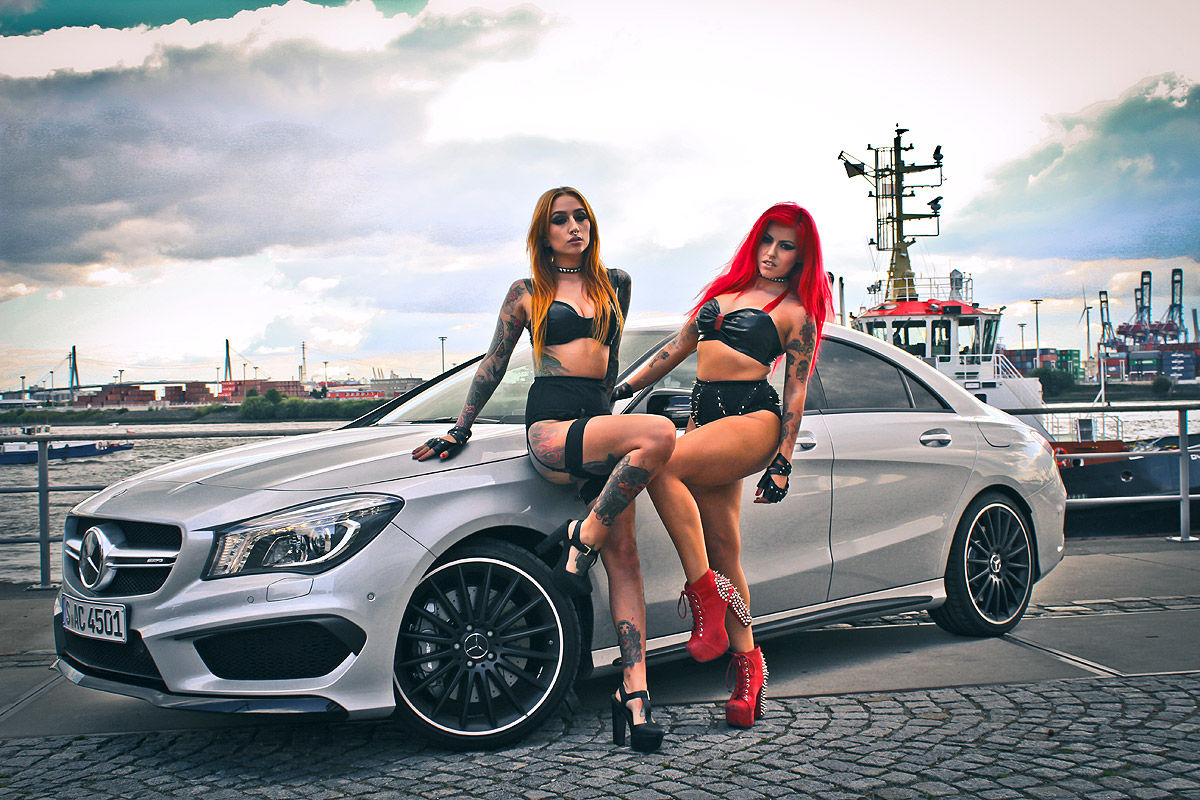 Hot german girls bring the fire to mercedes cla 45 amg for Best looking mercedes benz models