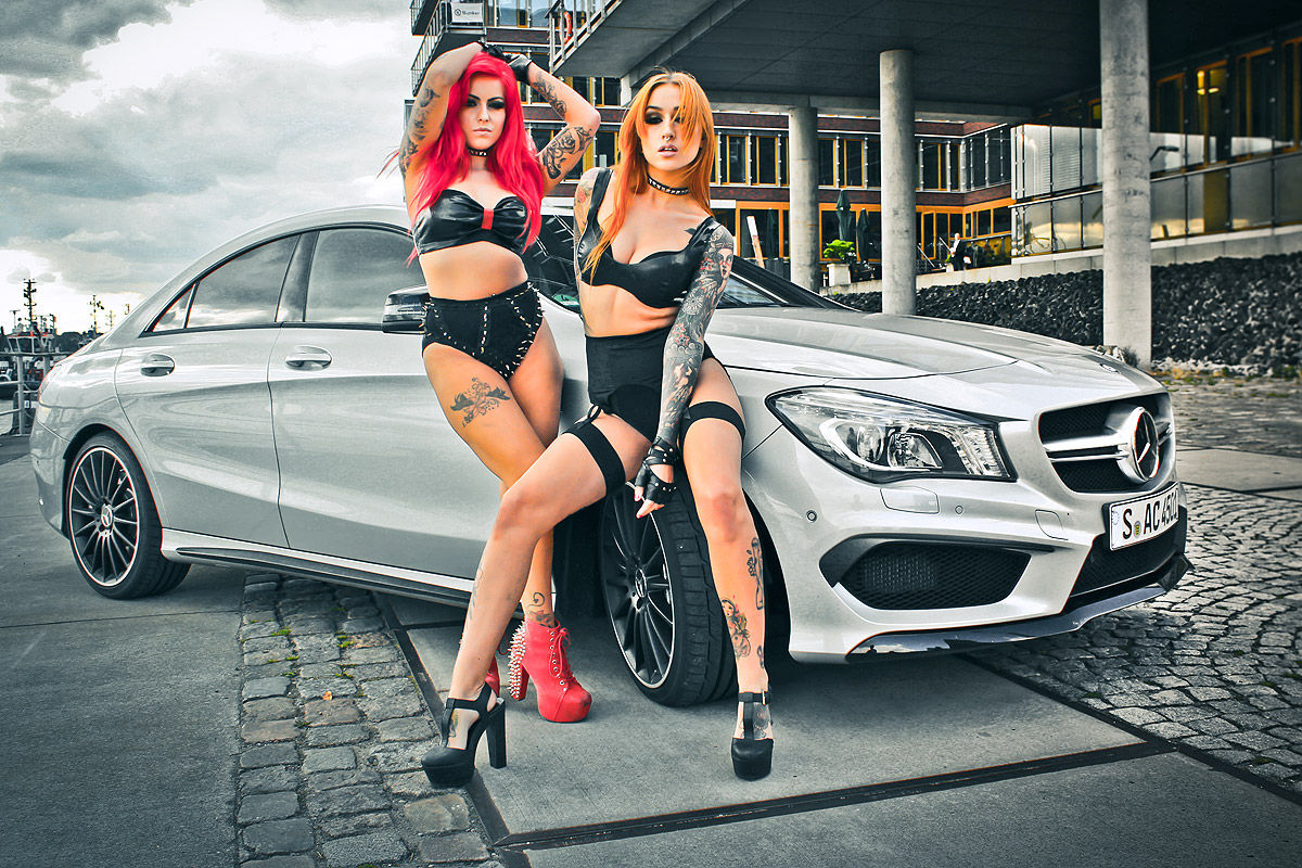 Hot German Girls Bring The Fire To Mercedes CLA 45 AMG