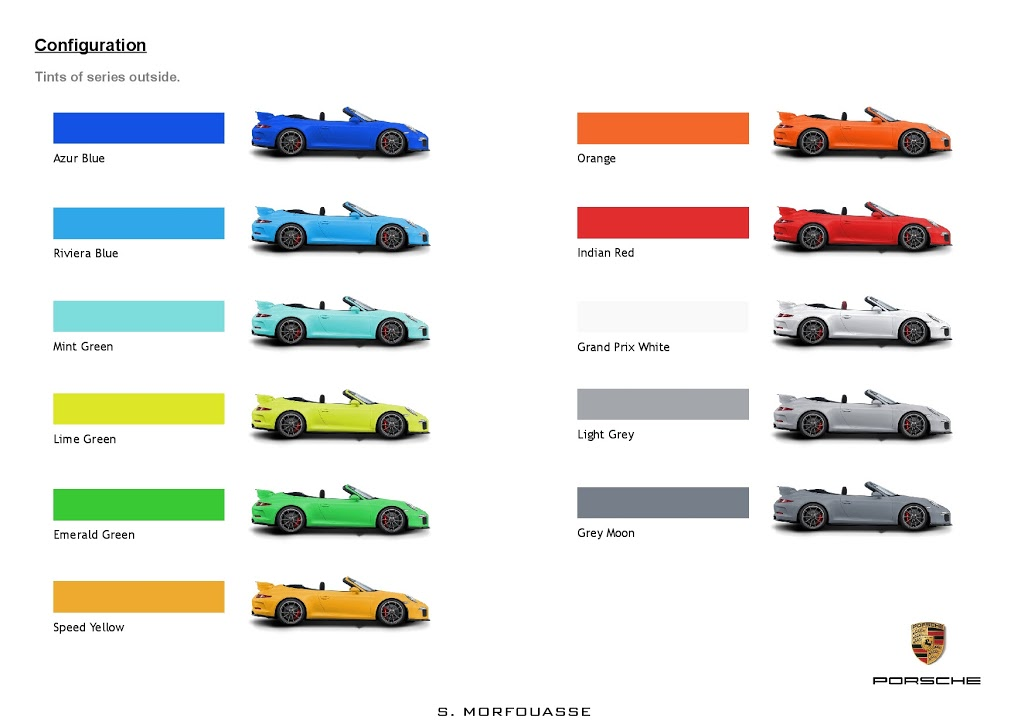 Porsche Paint Colors