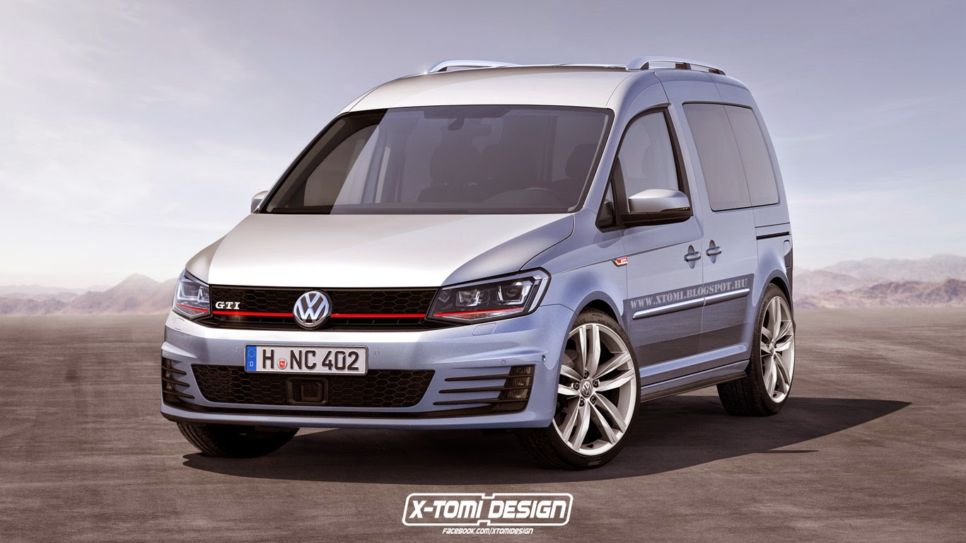 how about a volkswagen caddy gti or caddy r for those rush deliveries autoevolution. Black Bedroom Furniture Sets. Home Design Ideas