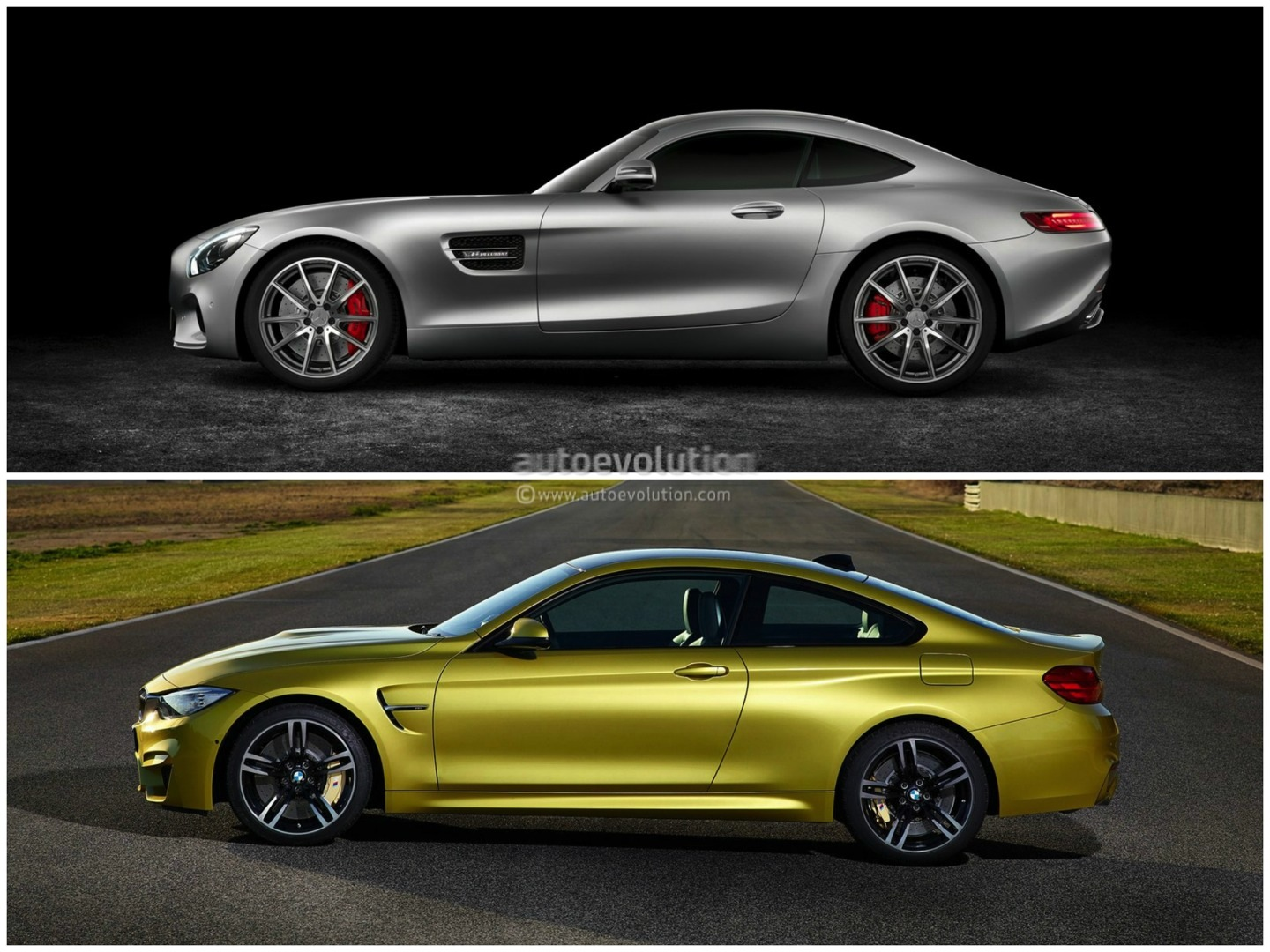how does the bmw m4 stack up against the mercedes amg gt autoevolution. Black Bedroom Furniture Sets. Home Design Ideas