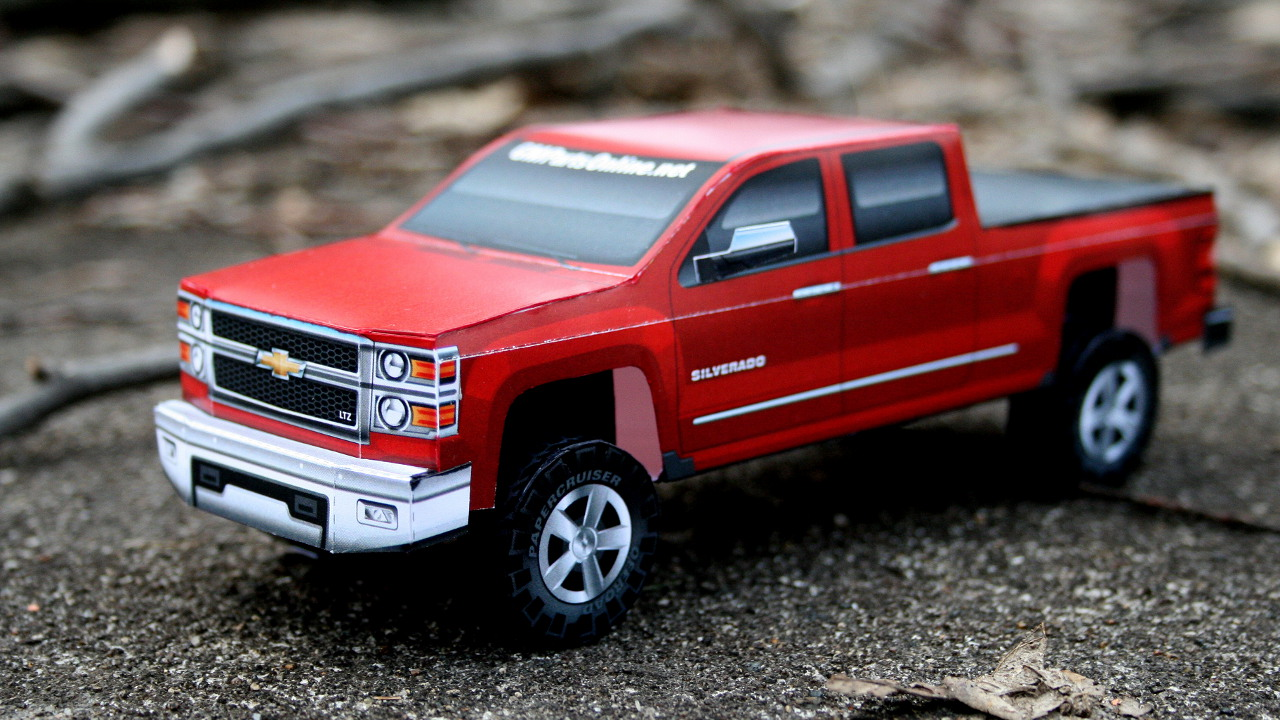 Build Your Own 2014 Chevrolet Silverado... Out of Paper ...
