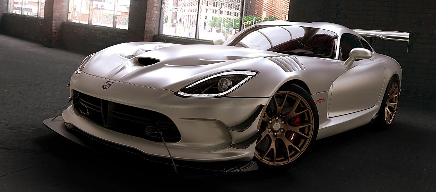 Dodge Viper Srt With Matte White Paint