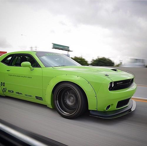 Hulk Green Dodge Challenger Scat Pack Gets Liberty Walk ...
