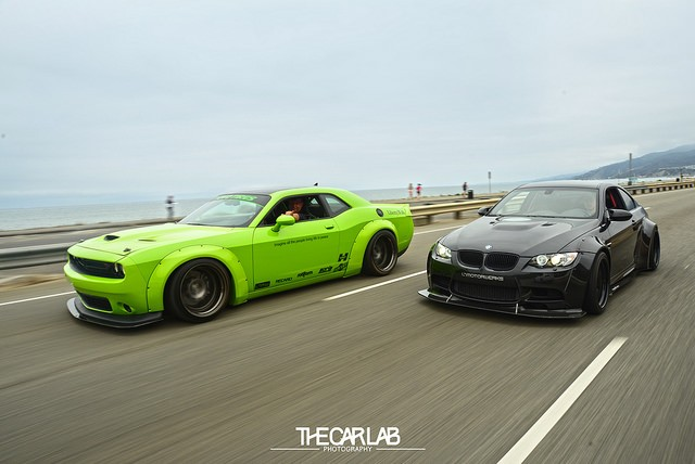 Hulk Green Dodge Challenger Scat Pack Gets Liberty Walk ...