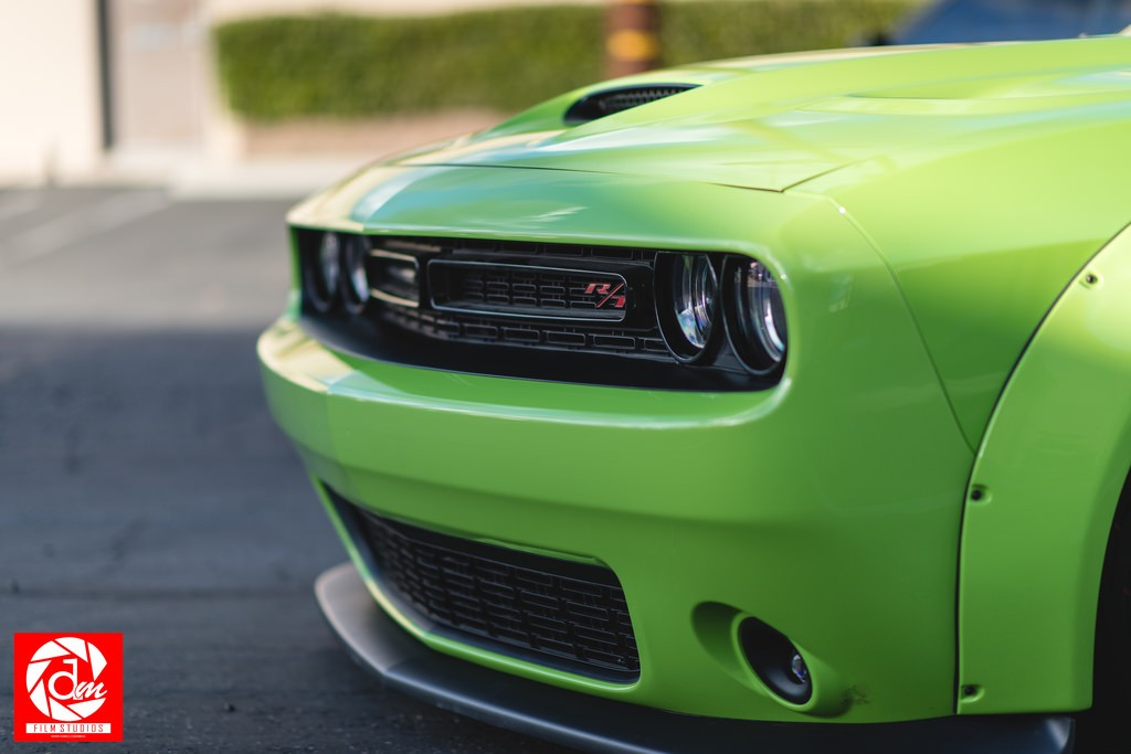 Hulk Green Dodge Challenger Scat Pack Gets Liberty Walk