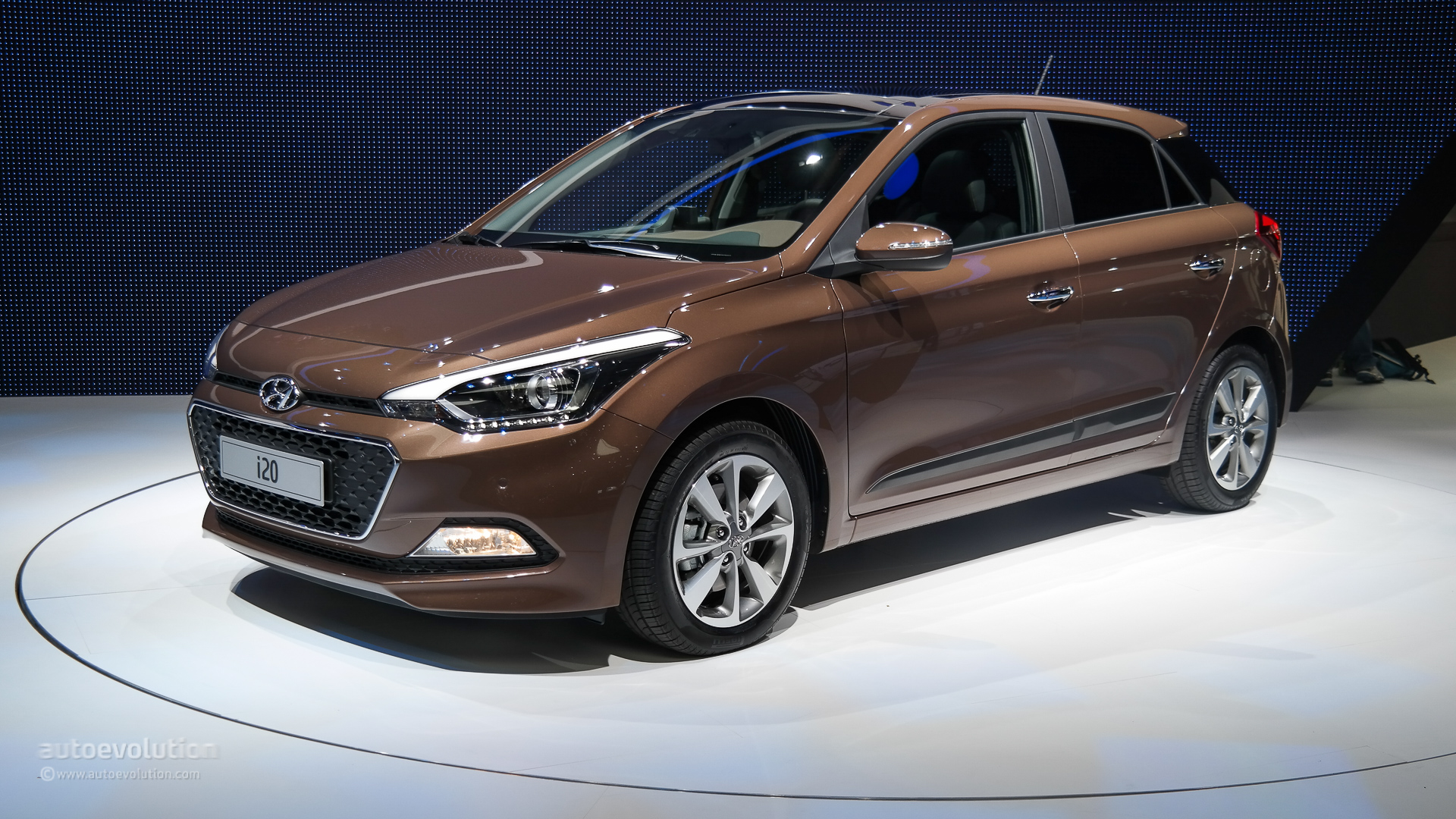 hyundai i20 pops out at paris motor show 2014 live photos autoevolution. Black Bedroom Furniture Sets. Home Design Ideas